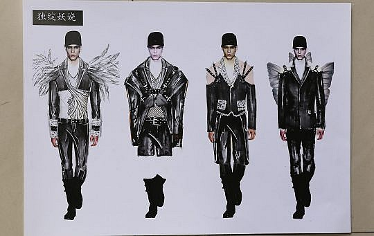 Chinese Fashion Design Competition: Qian Peng brings the beauty of nature to the global male fashion market